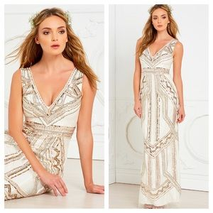 Lovers + Friends The Ballroom Dress Champagne Gown